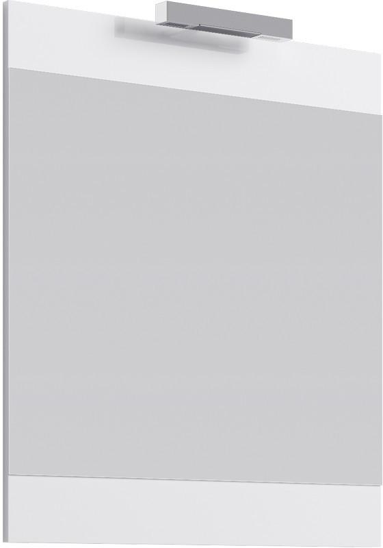 Зеркало 70х80 см со светильником белый глянец Br.02.07/W зеркало ellux laguna 50х70 см со светильником 28 w lag a1 0117