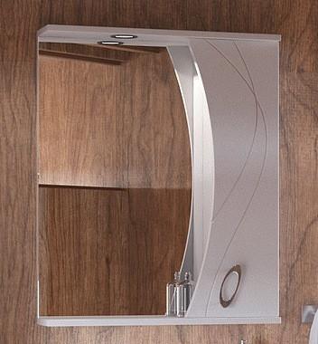 Зеркальный шкаф 59х74 см белый глянец Corozo Наина SD-00000298 зеркальный шкаф corozo орфей 50 белый sd 00000299