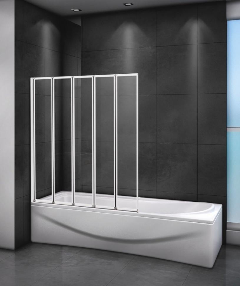 Шторка для ванны 120 см Cezares RELAX-V-5-120/140-C-Bi прозрачное недорого