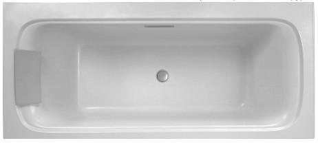 Ванна из материала Flight 190x90 см Jacob Delafon Elite E6D033-00 ванна из искусственного камня jacob delafon elite 190x90 с щелевидным переливом e6d033 00 без гидромассажа