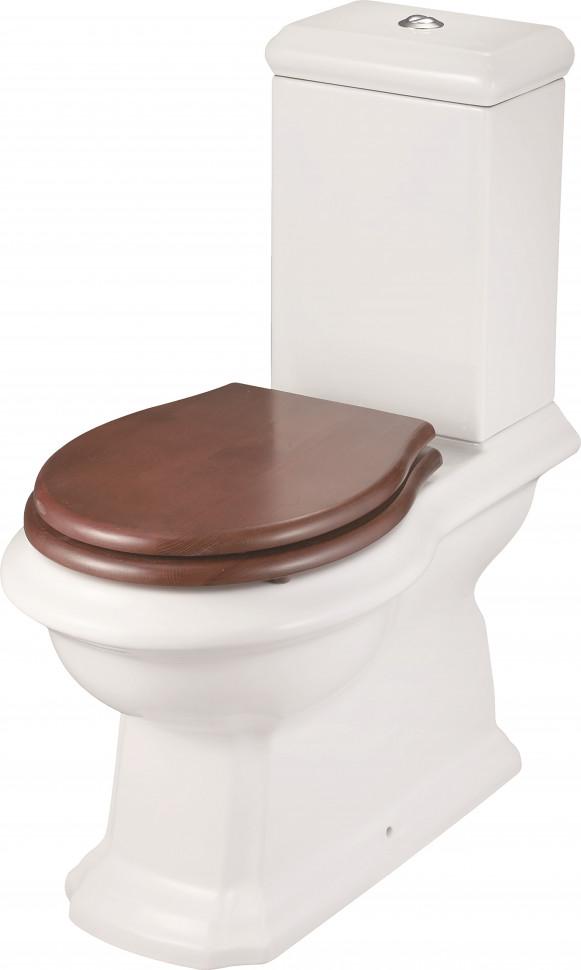 Унитаз-компакт с сиденьем микролифт Creo Ceramique Dijon DI1002+DI1003+DI1001N декор ceramique imperiale ирисы сиреневый 20х60