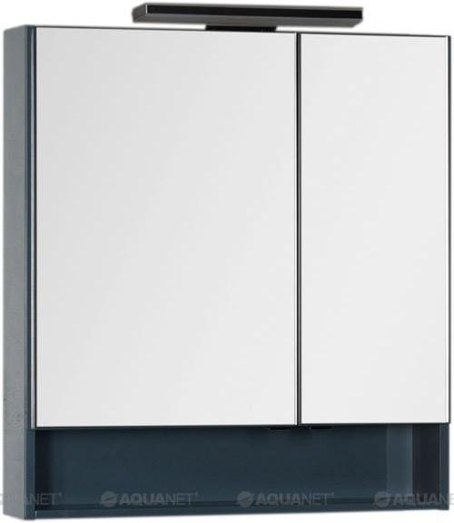 Зеркальный шкаф 79х86 см сине-серый Aquanet Виго 00183362