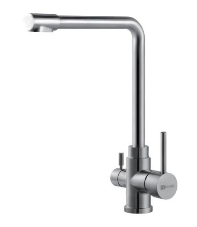 Смеситель для кухни из нержавеющей стали с подключением к фильтру Lemark Expert LM5060S смеситель для кухни с подключением к фильтру lemark villa lm4861b