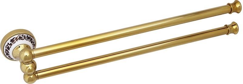 Полотенцедержатель двойной поворотный 46 см Fixsen Bogema Gold FX-78502AG крючок двойной fixsen bogema gold fx 78505ag