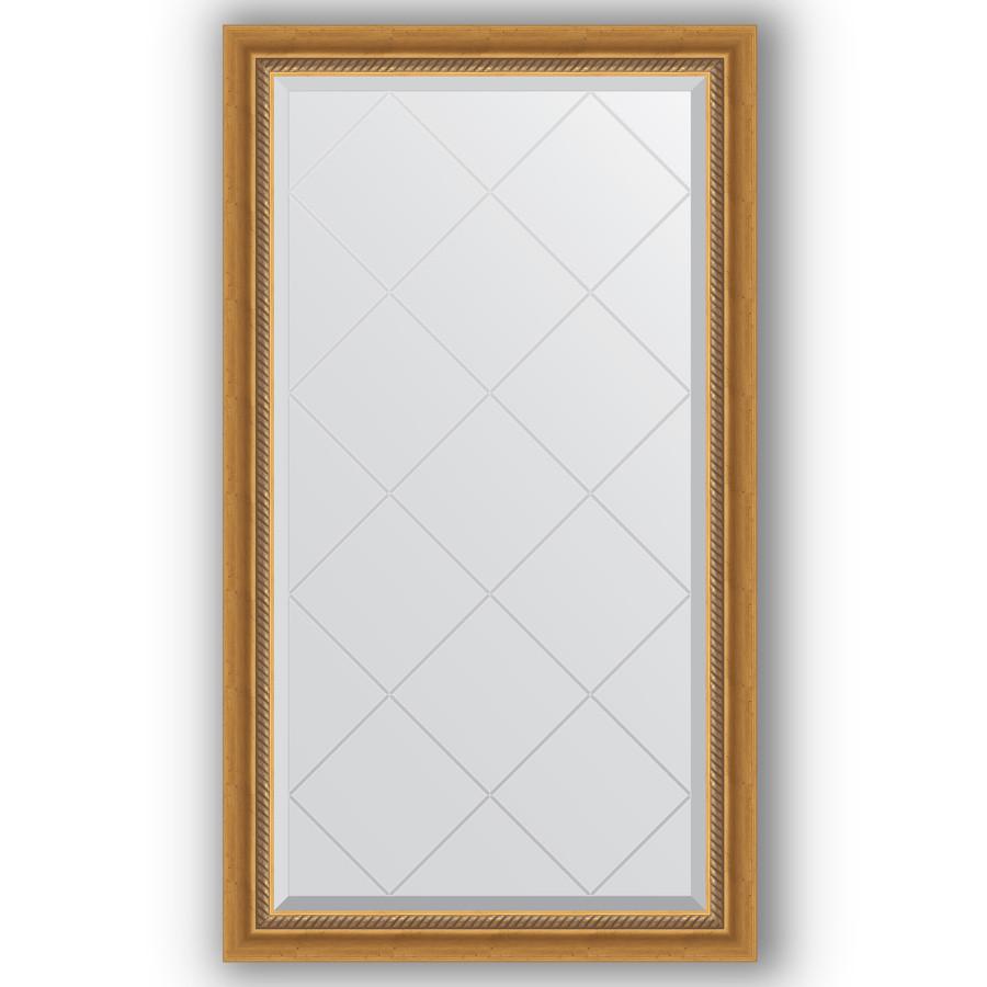 Зеркало 73х128 см состаренное золото с плетением Evoform Exclusive-G BY 4217