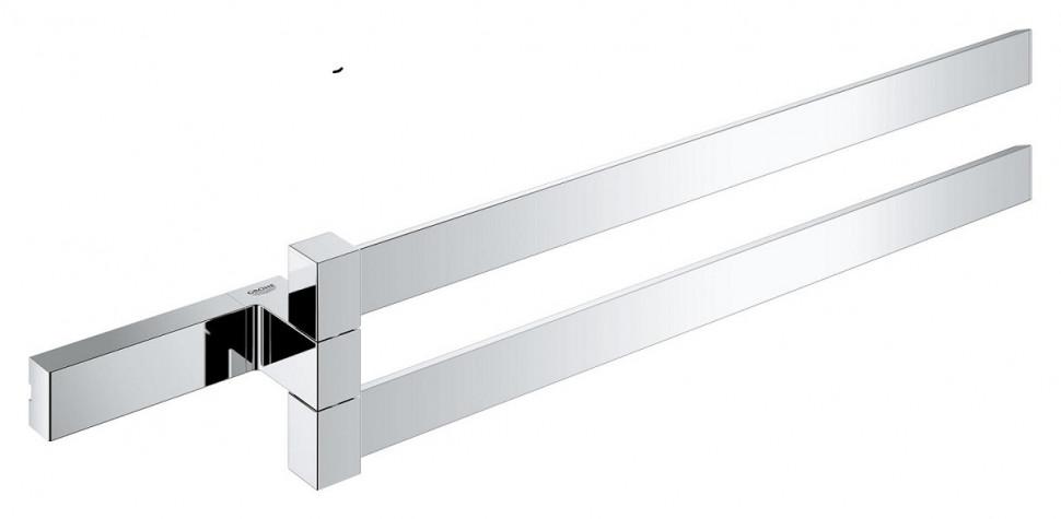 Фото - Полотенцедержатель двойной поворотный 40 см Grohe Selection Cube 40768000 полотенцедержатель 60 см grohe selection cube 40807000