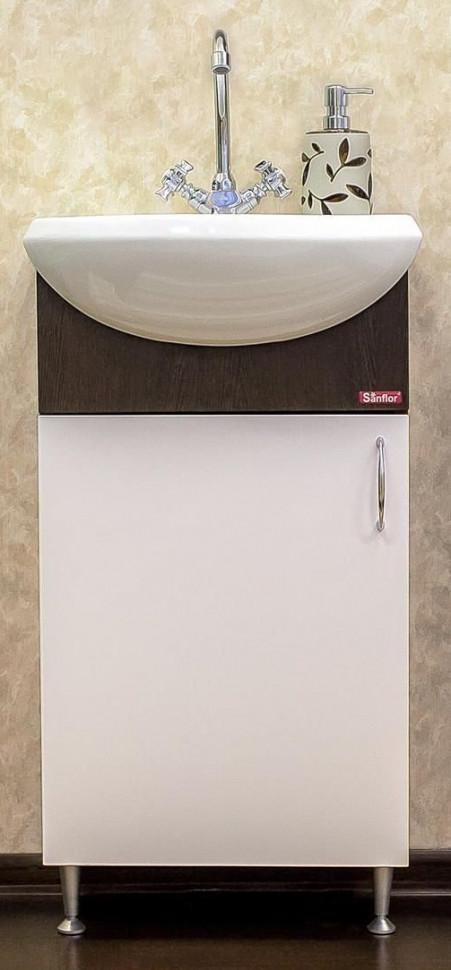 Тумба венге/белый 42,8 см L Sanflor Мокко H0000000581