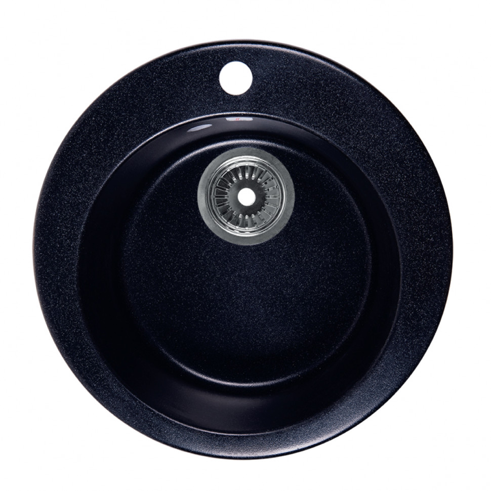 Кухонная мойка черный Rossinka RS47R-Black кухонная мойка rossinka rs48 49s черная