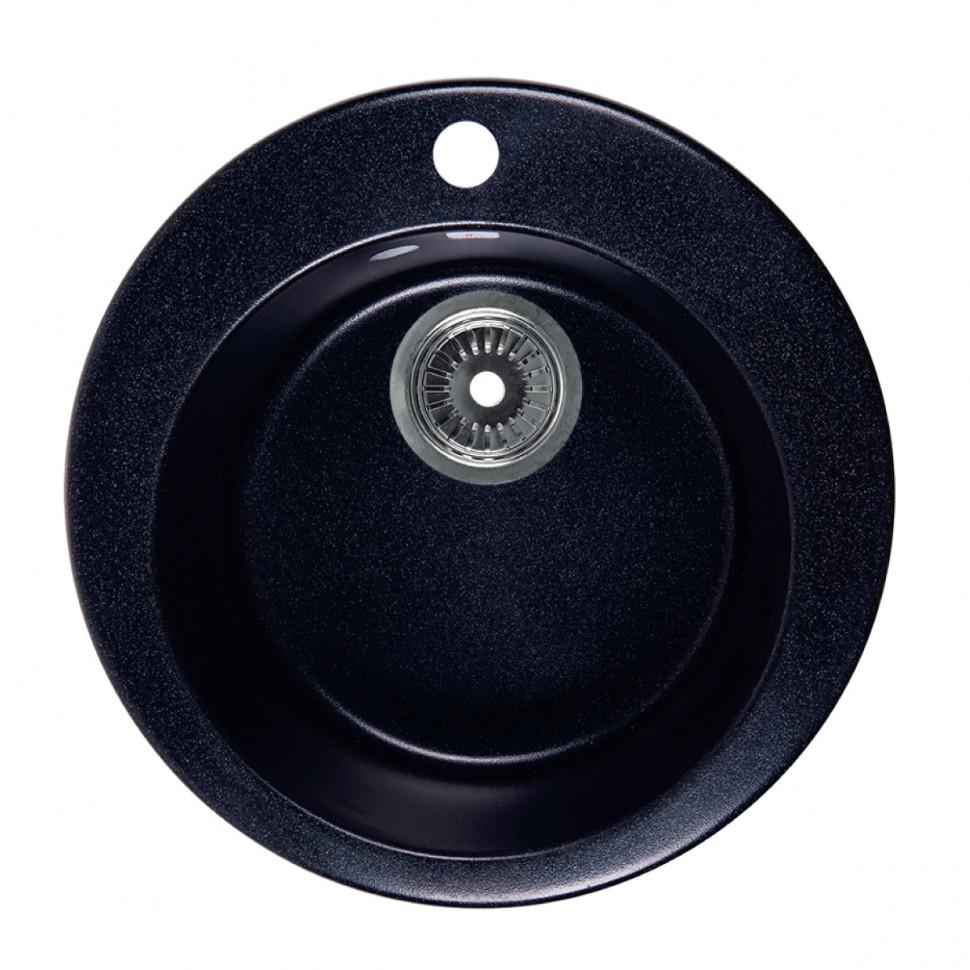 Кухонная мойка черный Rossinka RS47R-Black цена