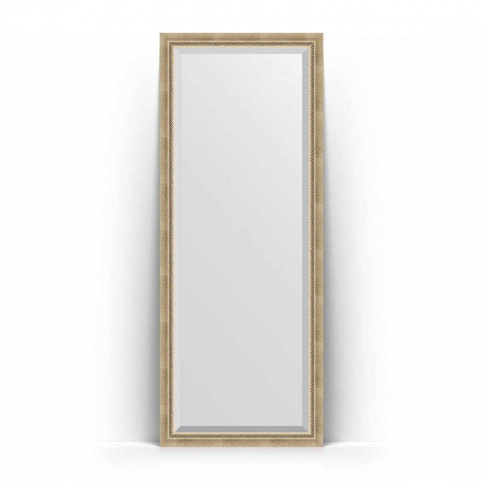 Зеркало напольное 78х198 см состаренное серебро с плетением Evoform Exclusive floor BY 6102 зеркало evoform exclusive 133х53 состаренное серебро с плетением