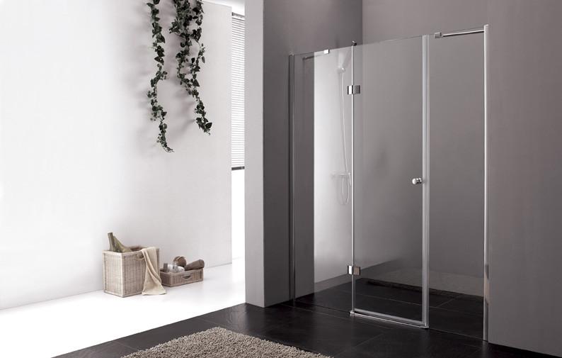 цена на Душевая дверь распашная Cezares Verona 160 см прозрачное стекло VERONA-W-B-13-60+60/40-C-Cr