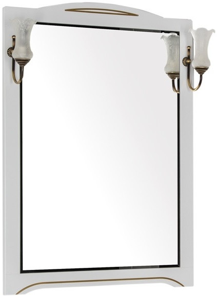 Зеркало 80х112 см белый/патина золото Aquanet Луис 00186176 зеркало 120х96 3 см белый золотая патина aquanet паола 00186105