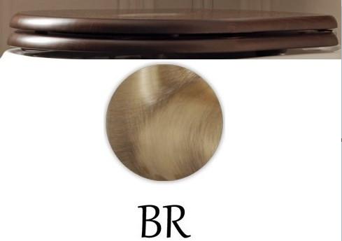 Сиденье для унитаза с микролифтом орех/бронза Kerasan Retro 108640noc/br kerasan мебель для ванной kerasan retro с дверцами 73 см орех