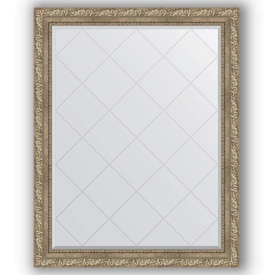 Зеркало 95х120 см виньетка античное серебро Evoform Exclusive-G BY 4358 зеркало evoform exclusive g 72х55 виньетка античное серебро