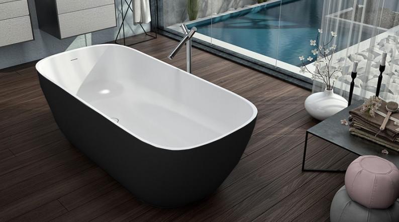 Ванна из литого мрамора 180х80 см Kolpa San Gloria FS Black
