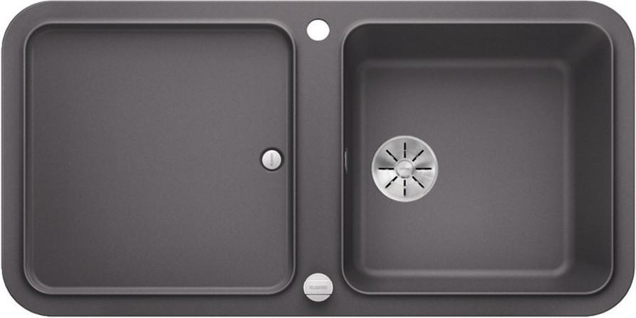 Кухонная мойка Blanco Yova XL 6S InFino темная скала 523595