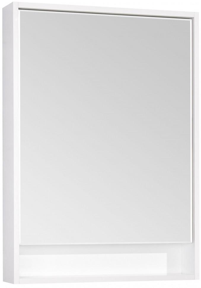 Фото - Зеркальный шкаф белый глянец 60х85 см Акватон Капри 1A230302KP010 зеркало 60х85 см акватон лиана 1a162602ll010