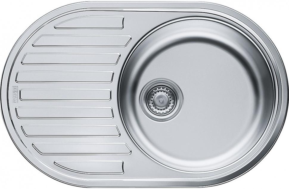Кухонная мойка Franke Pamira PML 611 декоративная сталь 101.0009.497 кухонная мойка franke pml 611 3 5 обор б отв б вып 101 0009 497