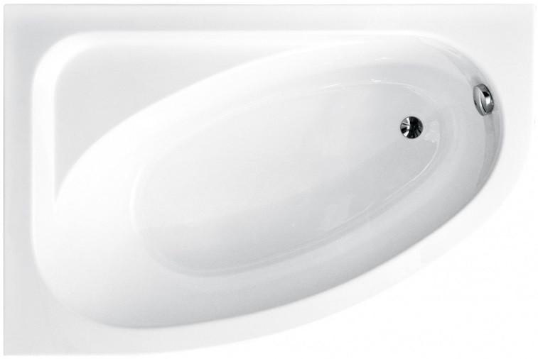 Акриловая ванна 140х80 см L Besco Cornea WAC-140-NL акриловая ванна besco bianka 150x95 l