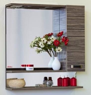 Зеркальный шкаф 69х73,6 см венге/зебрано R Sanflor Техас C0000002008