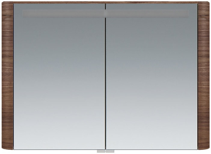 Зеркальный шкаф 100х70 см орех Am.Pm Sensation M30MCX1001NF