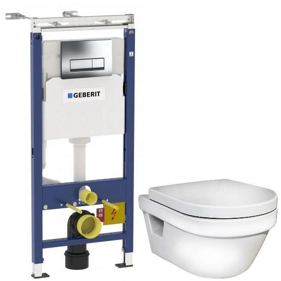 Комплект подвесной унитаз Gustavsberg Hygienic Flush 5G84HR01 + система инсталляции Geberit 458.125.21.1 чаша унитаза подвесная gustavsberg hygienic flush wwc 5g84hr01 с сиденьем микролифт с горизонтальным выпуском