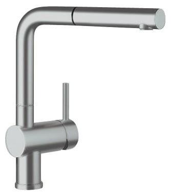 Смеситель для кухонной мойки Blanco Linus-S матовый хром 512403 смеситель для кухонной мойки blanco levos s зеркальная нержавеющая сталь 514918