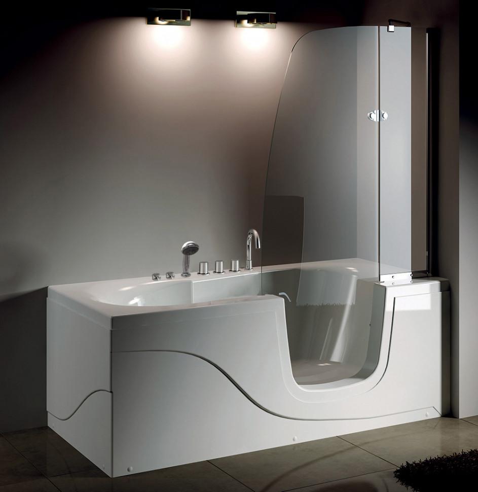 Акриловая гидромассажная ванна 170х80 см R Gemy G9246B R акриловая ванна gemy g9052 ii k r