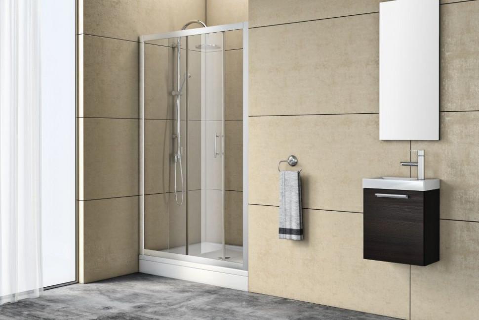 Душевая дверь 100 см Kolpa San Q line TV/2D прозрачное