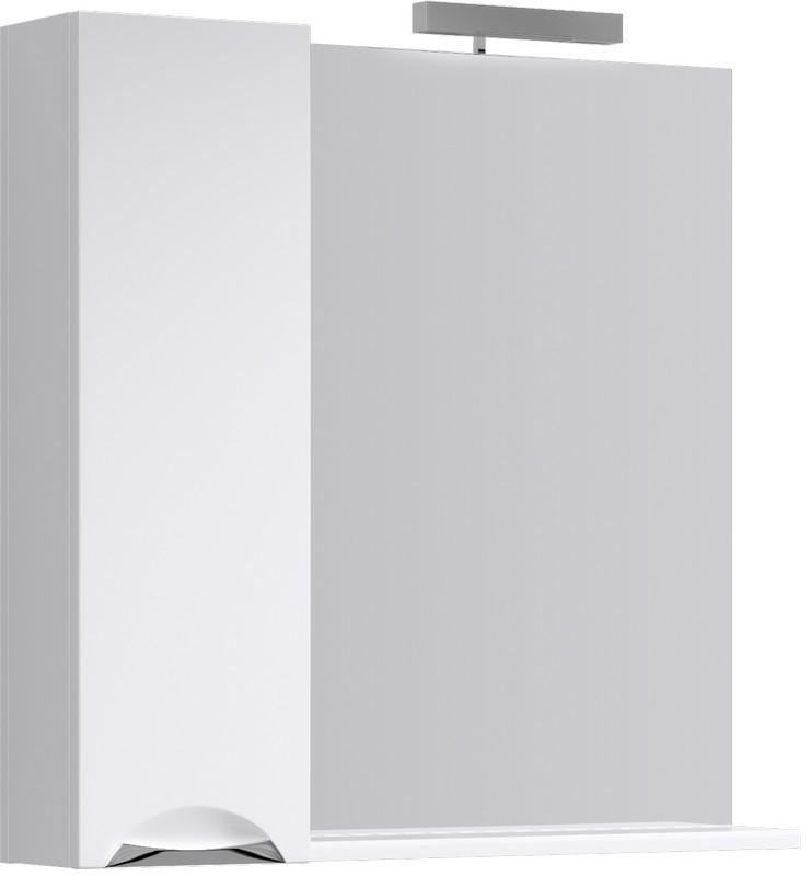 Зеркальный шкаф 85х82 см с подсветкой Aqwella Line Li.02.08 зеркальный шкаф bellezza миа 85 с подсветкой l белый