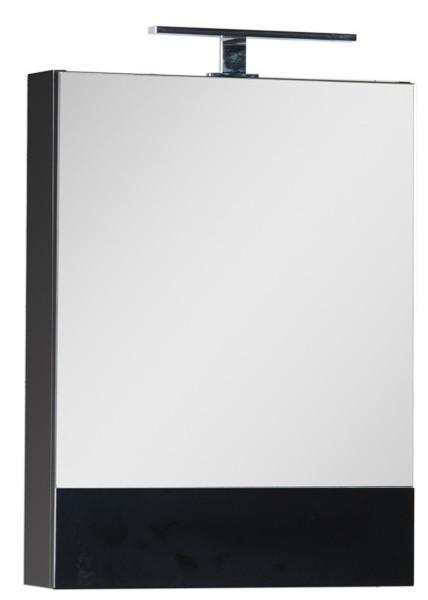 Зеркальный шкаф 50х67 см черный Aquanet Нота 00176947