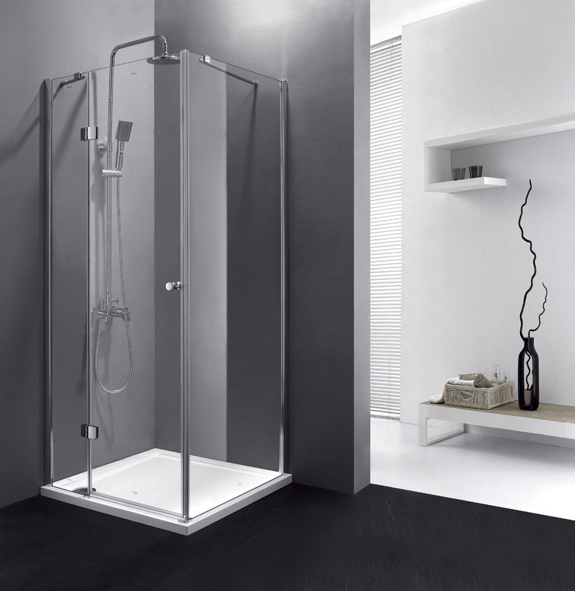 Душевой уголок Cezares Verona 90x90 см текстурное стекло VERONA-W-A-1-90-P-Cr-L