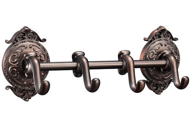 Планка с 4 крючками Hayta Antic Brass 13902-4/VBR