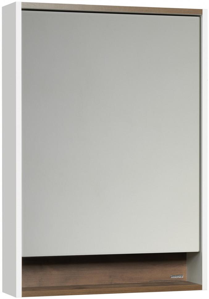 Фото - Зеркальный шкаф белый глянец/таксония темная 60х85 см Акватон Капри 1A230302KPDB0 зеркало 60х85 см акватон лиана 1a162602ll010