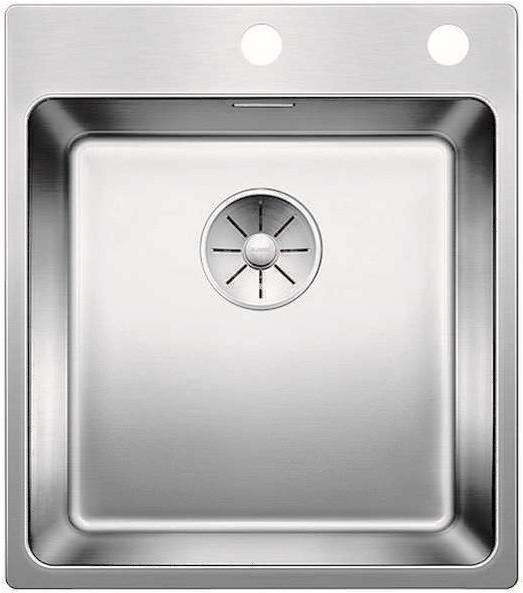 Кухонная мойка Blanco Andano 400-IF/A InFino зеркальная полированная сталь 522993 мойка кухонна blanco andano 400 if сталь с клапаном автоматом 518312