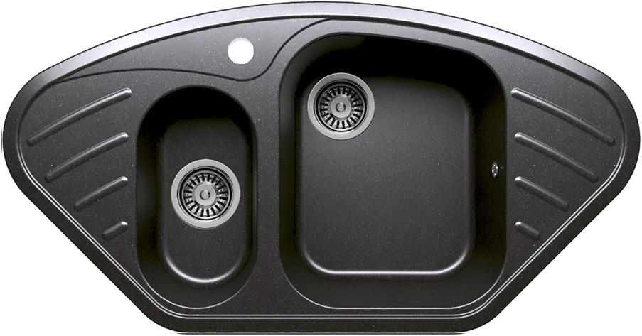 Кухонная мойка Polygran черный F-14 №16 кухонная мойка polygran серый f 10 14