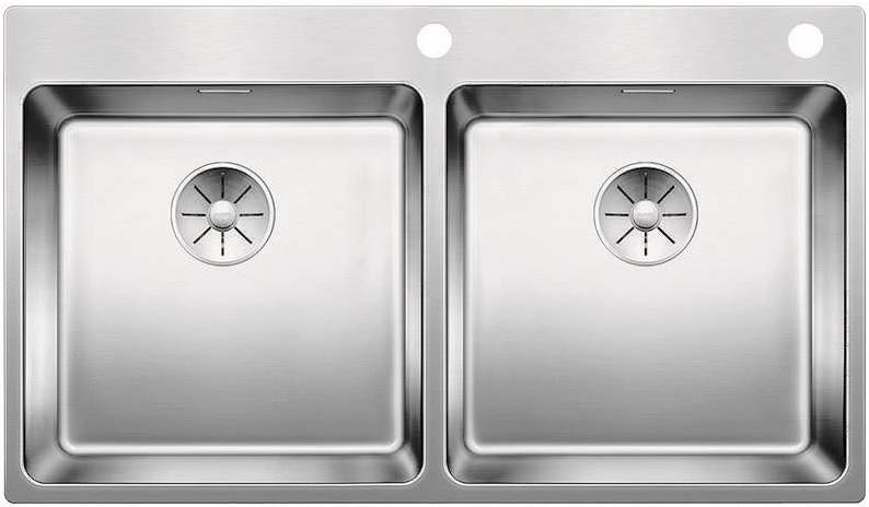 Кухонная мойка Blanco Andano 400/400-IF/A InFino зеркальная полированная сталь 522998 мойка кухонна blanco andano 400 if сталь с клапаном автоматом 518312