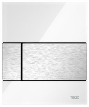 Смывная клавиша для писсуара TECE TECEsquare белый/нержавеющая сталь с покрытием против отпечатков пальцев 9242801 смывная клавиша tece tecesquare нержавеющая сталь с покрытием против отпечатков пальцев 9240830