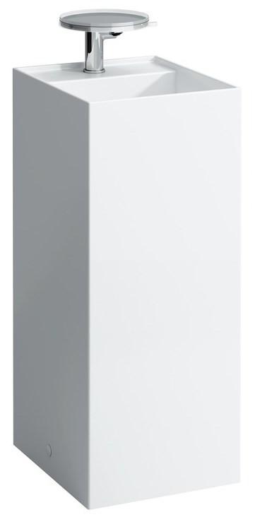 Свободностоящая раковина со специальным скрытым сливом Laufen Kartell by Laufen 8113310001111 раковина чаша 42 см белый laufen kartell by laufen 8123310001121