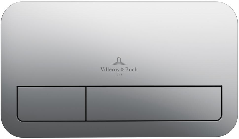 Смывная клавиша хром Villeroy & Boch ViConnect E200 92249061 смывная клавиша белая villeroy