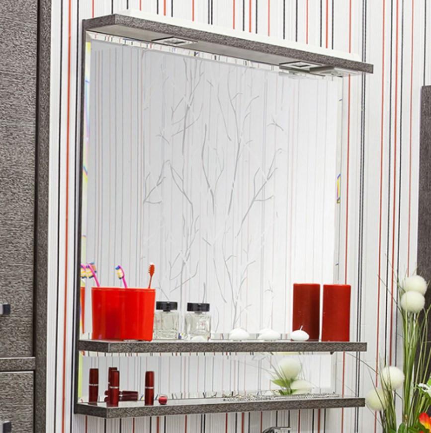 Зеркало 82х90 см венге серебряная патина Sanflor Румба H0000000162