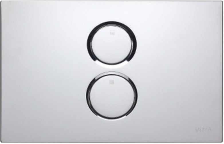 Смывная клавиша двухрежимная глянцевый хром Vitra Twin 740-0280 смывная клавиша глянцевый хром vitra uno 720 0180exp