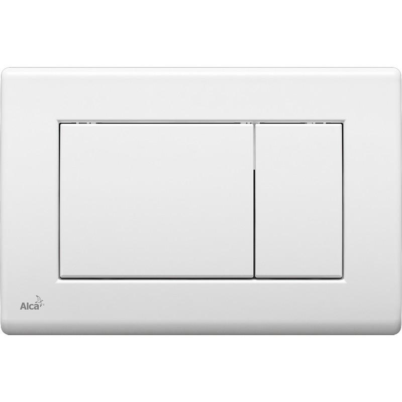 Смывная клавиша белый для двойного смыва AlcaPlast M270 фото