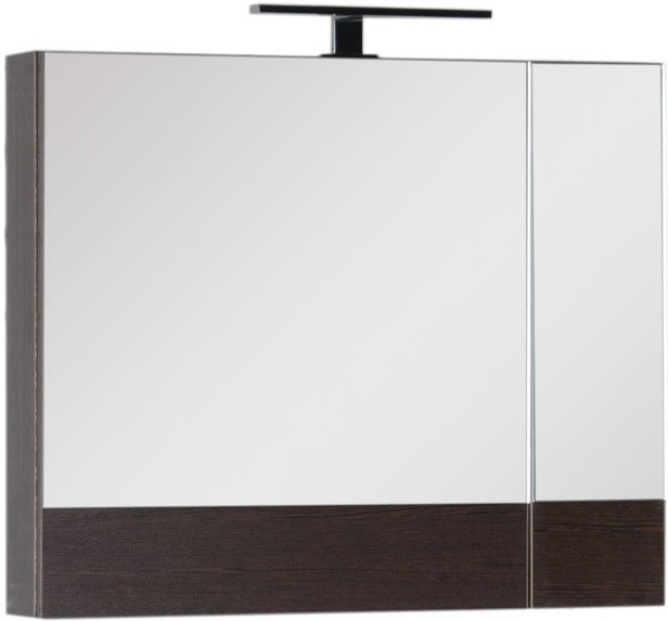 Зеркальный шкаф 75х67 см венге Aquanet Нота 00159109