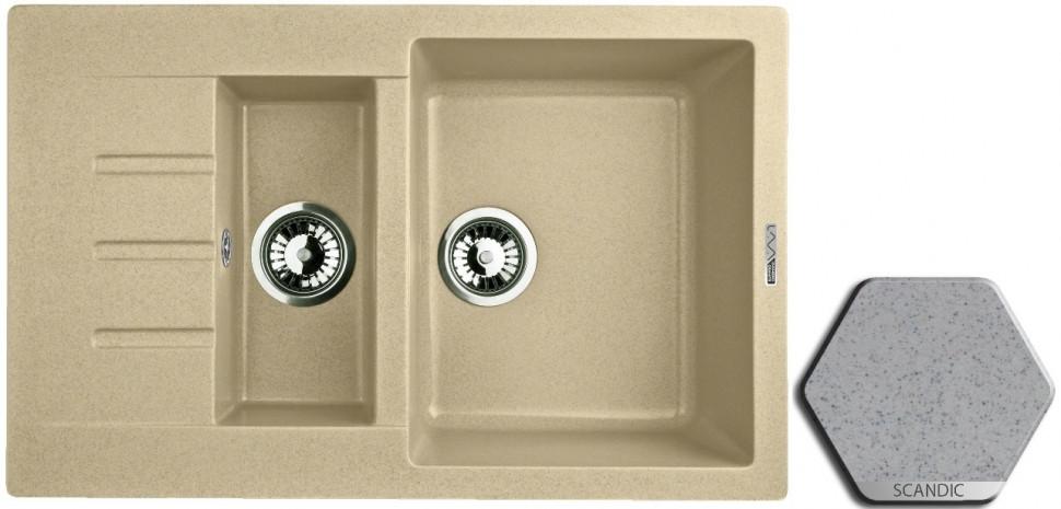 Кухонная мойка SCANDIC Lava D2.SCA цена и фото