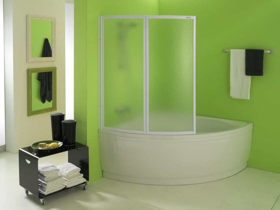 Шторка для ванны 105 см Kolpa San Quat TP матовое