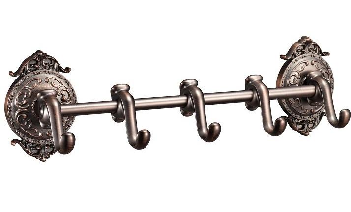 Планка с 5 крючками Hayta Antic Brass 13902-5/VBR
