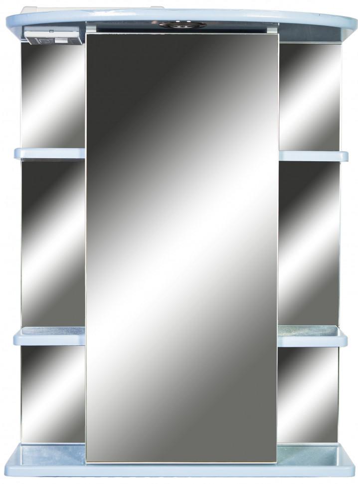 Зеркальный шкаф 55х72 см голубой глянец Orange Кларис KL-55ZSB