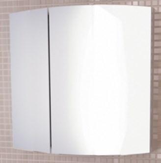 Зеркальный шкаф 60х61 см белый глянец Comforty Лаура 00003119850