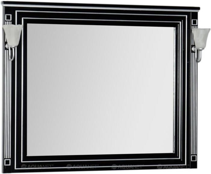 Зеркало 120х96,3 см черный серебряная патина Aquanet Паола 00181767 зеркало aquanet паола 181767 182019